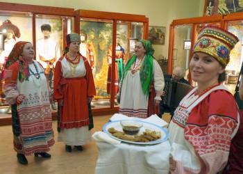 Открытие этнографического зала основной экспозиции Орловского краеведческого музея.