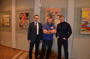 Военно-исторический музей посетили  актер Михаил Пореченков и боксер Александр Поветкин