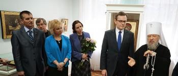 Открытие выставки икон художника-иконописца Аркадия Полевого и художника-реставратора Татьяны Самариной