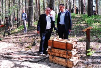 Директор музея Андрей Минаков принял участие в открытии военного мемориала в Национальном парке «Орловское полесье»
