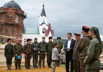 Урок мужества в казачьем кадетском походе «Есаулец»