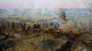 """Диорама """"Сражение под Кромами 1919 г."""""""