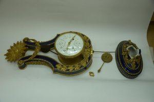 Каминные часы «Лира» до реставрации