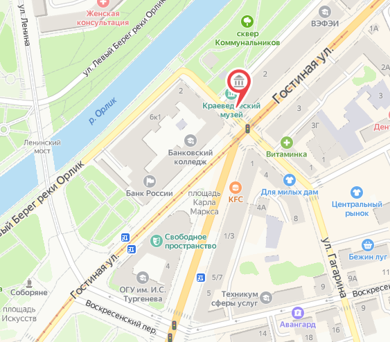 Орловский Туристский информационный центр на карте